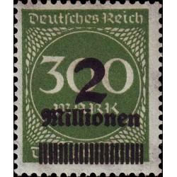 1 عدد تمبر از سری پستی - سورشارژ  2 م مارک  روی 300  - رایش آلمان 1923 با شارنیه