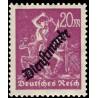1 عدد تمبر سری پستی - تمبر رسمی - 20  - رایش آلمان 1923 با شارنیه