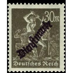 1 عدد تمبر سری پستی - تمبر رسمی - 30  - رایش آلمان 1923 با شارنیه