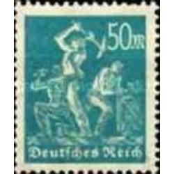 1 عدد تمبر از سری پستی - 50 فنیک  - رایش آلمان 1922 بدون چسب