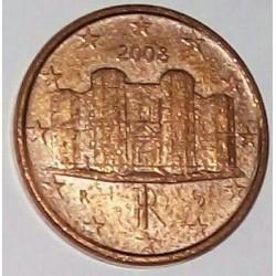 سکه 1 سنت یورو - مس روکش فولاد - ایتالیا 2008 غیر بانکی