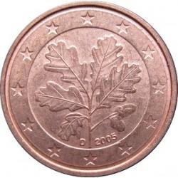 سکه 1 سنت یورو - مس روکش فولاد - آلمان 2016 غیر بانکی