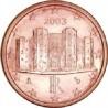 سکه 1 سنت یورو - مس روکش فولاد - ایتالیا 2012 غیر بانکی