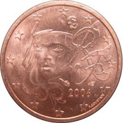 سکه 1 سنت یورو - مس روکش فولاد -فرانسه 2014 غیر بانکی