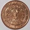 سکه 1 سنت یورو - مس روکش فولاد -اتریش 2012 غیر بانکی