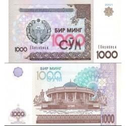اسکناس 1000 سام - ازبکستان 2001