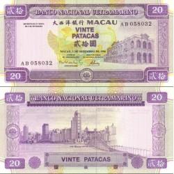 اسکناس 20 پاتاکا - ماکائو 1996