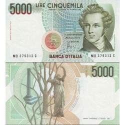 اسکناس 5000 لیر - ایتالیا 1985