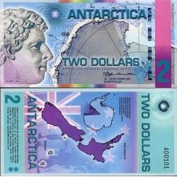 اسکناس پلیمر 2 دلار - جیمز کلارک رز سیاح قطب - قطب شمال 2014 فانتزی