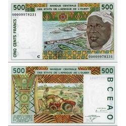اسکناس 500 فرانک -بورکینافاسو 2000