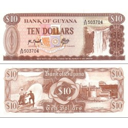 اسکناس 10 دلار - گویانا 1992