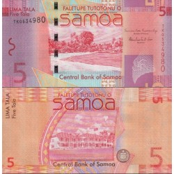 اسکناس 5 تالا - ساموا 2008