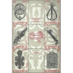 6 عدد تمبر هنر صنایع دستی آهنی با تب - B  - اسپانیا 1990