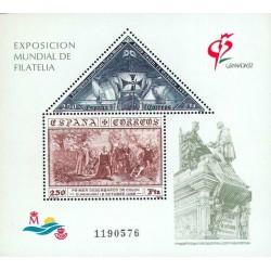 سونیرشیت نمایشگاه بین المللی تمبر گرانادا - اسپانیا 1992 قیمت 9.3 دلار