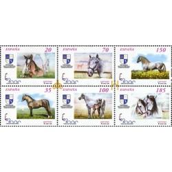 6 عدد تمبر نمایشگاه بین المللی تمبر اسپانیا - مادرید - اسبها - B - اسپانیا 1998 قیمت 13.4 دلار