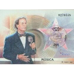 سونیرشیت نمایشگاه بین المللی تمبر  مادرید  2000 - خولیو ایگلسیاس ترانه سرا ، خواننده  و گیتاریست- اسپانیا 2000
