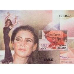سونیرشیت نمایشگاه بین المللی تمبر  مادرید  2000 -سارا باراس رقصنده فلامنکو - اسپانیا 2000