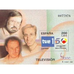 سونیرشیت نمایشگاه بین المللی تمبر  مادرید  2000 - شبکه تلویزیونی Tve - اسپانیا 2000