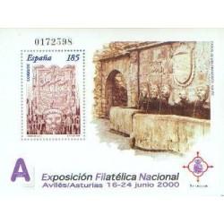 سونیرشیت نمایشگاه ملی تمبر اگزفیلنا 2000 - اویلز - اسپانیا 2000