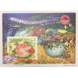 مینی شیت هفته تمبر - حیوانات اهلی و وحشی - ماهیها - بیدندانه - مالزی 2002