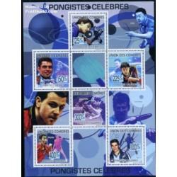 مینی شیت قهرمانان تنیس روی میز - کومور 2009 قیمت 9.15 یورو
