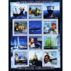 مینی شیت کشتیهای معروف - تایتانیک - کومور 2009 قیمت 9 یورو