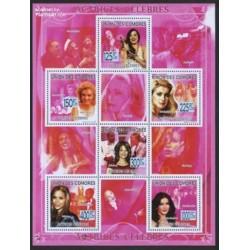 مینی شیت هنرپیشگان معروف زن - کاترین زتا جونز - کومور 2009 قیمت 9 یورو