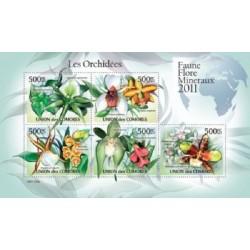 مینی شیت گلهای ارکیده - 2 - کومور 2011 قیمت 11.64 دلار