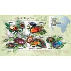 مینی شیت حشرات - سوسکها - 1 - کومور 2011 قیمت 11.64 دلار