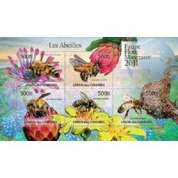 مینی شیت حشرات - زنبور عسل آفریقائی - 1 - کومور 2011 قیمت 11.64 دلار