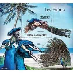 مینی شیت پرندگان - طاووس - 2 - کومور 2011 قیمت 14 دلار