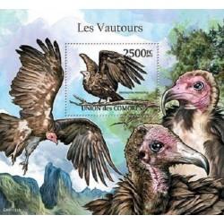 مینی شیت پرندگان شکاری - کرکسها - 2 - کومور 2011 قیمت 14 دلار