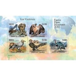 مینی شیت پرندگان شکاری - کرکسها - 1 - کومور 2011 قیمت 11.64 دلار