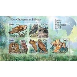 مینی شیت پرندگان - جغدها - 1 - کومور 2011 قیمت 11.64 دلار