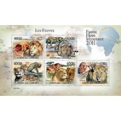 مینی شیت پستانداران - گربه سانان بزرگ - 1 - کومور 2011 قیمت 11.64 دلار