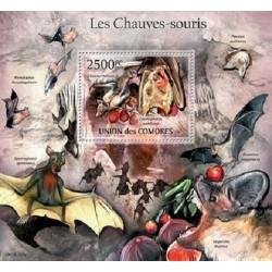 مینی شیت پستانداران - خفاشها - 2 - کومور 2011 قیمت 14 دلار