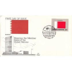 پاکت مهر روز کشورهای عضو سازمان ملل - بحرین -  نیویورک سازمان ملل 1987