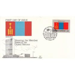 پاکت مهر روز کشورهای عضو سازمان ملل - مغولستان -  نیویورک سازمان ملل 1987