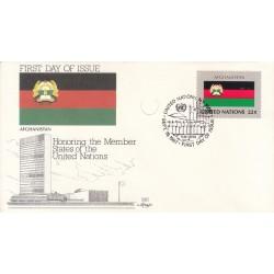 پاکت مهر روز کشورهای عضو سازمان ملل - افغانستان -  نیویورک سازمان ملل 1987