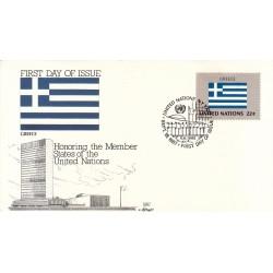 پاکت مهر روز کشورهای عضو سازمان ملل - یونان -  نیویورک سازمان ملل 1987