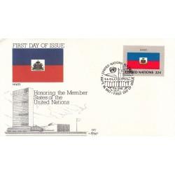 پاکت مهر روز کشورهای عضو سازمان ملل - هائیتی -  نیویورک سازمان ملل 1987