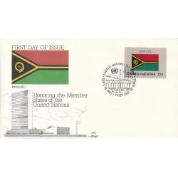 پاکت مهر روز کشورهای عضو سازمان ملل - وانواتو -  نیویورک سازمان ملل 1987