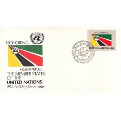 پاکت مهر روز کشورهای عضو سازمان ملل - موزامبیک -  نیویورک سازمان ملل 1982