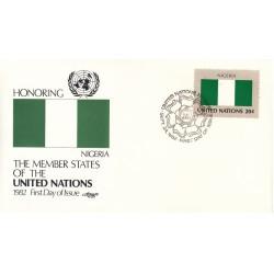 پاکت مهر روز کشورهای عضو سازمان ملل - نیجریه -  نیویورک سازمان ملل 1982