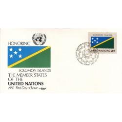 پاکت مهر روز کشورهای عضو سازمان ملل - جزایر سلیمان -  نیویورک سازمان ملل 1982