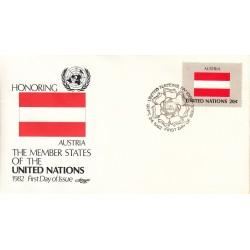 پاکت مهر روز کشورهای عضو سازمان ملل - اتریش -  نیویورک سازمان ملل 1982