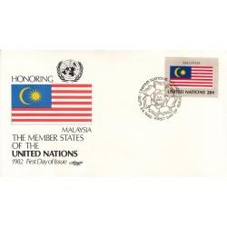 پاکت مهر روز کشورهای عضو سازمان ملل - مالزی -  نیویورک سازمان ملل 1982