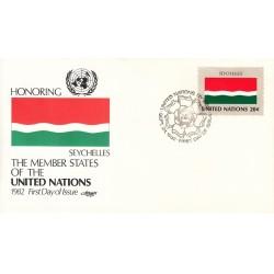 پاکت مهر روز کشورهای عضو سازمان ملل - سیشل -  نیویورک سازمان ملل 1982