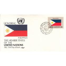 پاکت مهر روز کشورهای عضو سازمان ملل - فیلیپین -  نیویورک سازمان ملل 1982