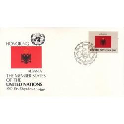 پاکت مهر روز کشورهای عضو سازمان ملل - آلبانی -  نیویورک سازمان ملل 1982